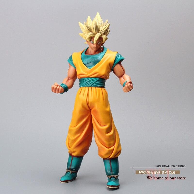 Free Shipping Anime Dragon Ball Z Super Saiyan Son Gokou Son Goku PVC Action Figure Collection Model Toy 12 30cm DBFG128<br><br>Aliexpress