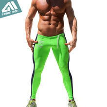 Aimpact Skinny Men Sport Pants Athletic Slim Fitted Running Men's Pants Gym Workout Tight Sweatpants Men Yogo Biker Pants AM16