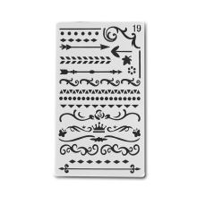 2PCS Bullet Journal Stencil Plastic Stencils Journal/Notebook/Diary/Scrapbook Hollow DIY School Stationery Office Supplies #19(China)