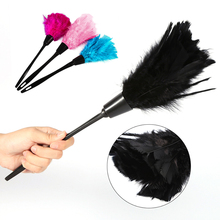 1pc 36cm Turkey Natural Feather Duster Brush With Handle Household Furniturer Car Dust Cleaner Cleaning Tools 5 colors