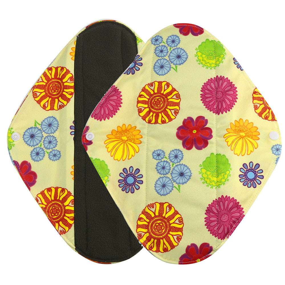 1pc New Arrival Women's Reusable Bamboo Cloth Washable Menstrual Pad Mama Sanitary Towel Pad Pretty Feminine Hygiene Product 23