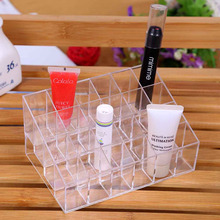 24 Stand Clear Acrylic  Makeup Cosmetic Organizer Case Lipstick nail polish Holder Display jewelry Stand Container Storage