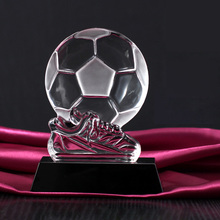 Football Boot Shoe Trophy Replica Crystal Soccer Award Football Club Fans Souvenirs(China)