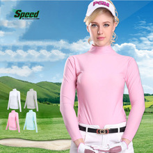 2017 pgm brand womens polo golf shirt long sleeve shirt underwear golf apparel tshirt Sun Protection Clothing 4 colors size S-XL