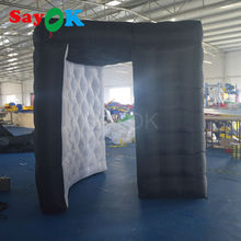 new design party decoration inflatable photo booth frames / led photo booth enclosure with inner blower