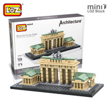 Mr.Froger LOZ Toys Brandenburg Gate Model Mini Architecture Blocks Building Bricks Creative Designs Toys For Kids Children DIY(China)
