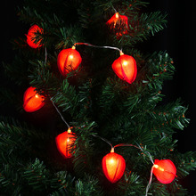 3.9ft 10 LED Flower String Lights Tulip Bud Shape for Indoor/Outdoor Christmas, Parties, Garden, Patio, Wedding Decoration Red