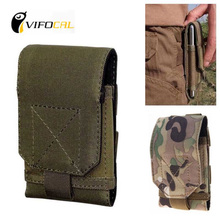 Mobile phone waist bag Large Size Army Camo Mobile Phone Hook Loop Belt Pouch Sleeve Holster Cover Case For Xiaomi Mi4C Mi 4C