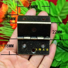 44*45MM Large three equivalent page Antique Metal hinge 6 Hole fold Cartesian co- Page angle side Wholesale(China)