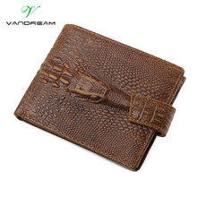 Genuine Leather Men Long / Short Crocodile Wallet Purse Luxury Zipper Coin Bag Card Hold Clutch Women Moneyclip Dollar Price !