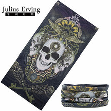 Julius Erving 1pcs/Lot Custom Tube Bandana Neck Cooling Bandana 25*50cm Skull Head Bandana Men Magic Headband Hijab