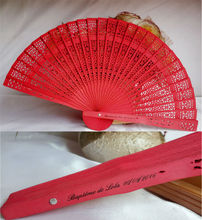 [I AM YOUR FANS]Free shipping personalized 100pcs/lot colored wood fans+White paper box no tassel 6colors for choice