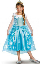 Deal with Children Dress Classical style Baby Girls Elsa Anan Dress Summer Beautiful Princess Party Dress(China)