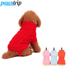 4 Colors Solid Knitted Dog Sweater Coat Warm Winter Puppy Clothes Chihuahua Small Dog Jumper Apperal