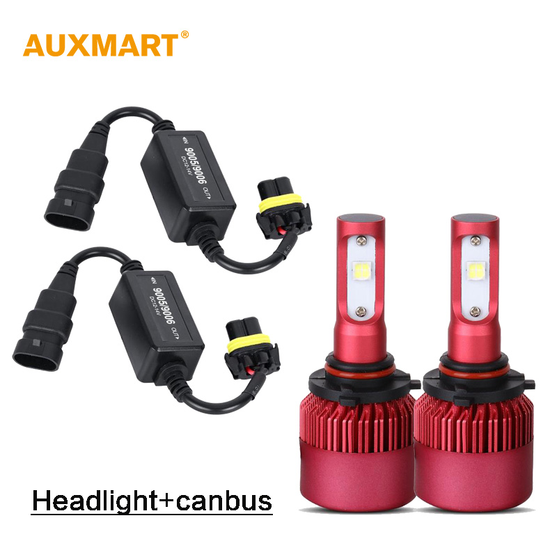 Auxmart G9 9005 HB3 Dipped Beam Car LED Headlight Kit SMD 80W 9600lm 6500K Fog Lights 12v 24v LED Headlamps + CANBUS Error Free<br><br>Aliexpress