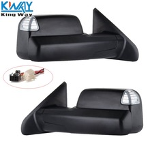 FREE SHIPPING - King Way - Black Pair Power Heated Towing LH & RH Mirrors For 2009 - 15 Dodge Ram 1500 2500 3500(China)