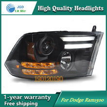JGD Brand New Styling for Dodge Ram1500 Ram 1500 LED Headlight 2013-2016 Headlight Bi-Xenon Head Lamp LED DRL Car Lights