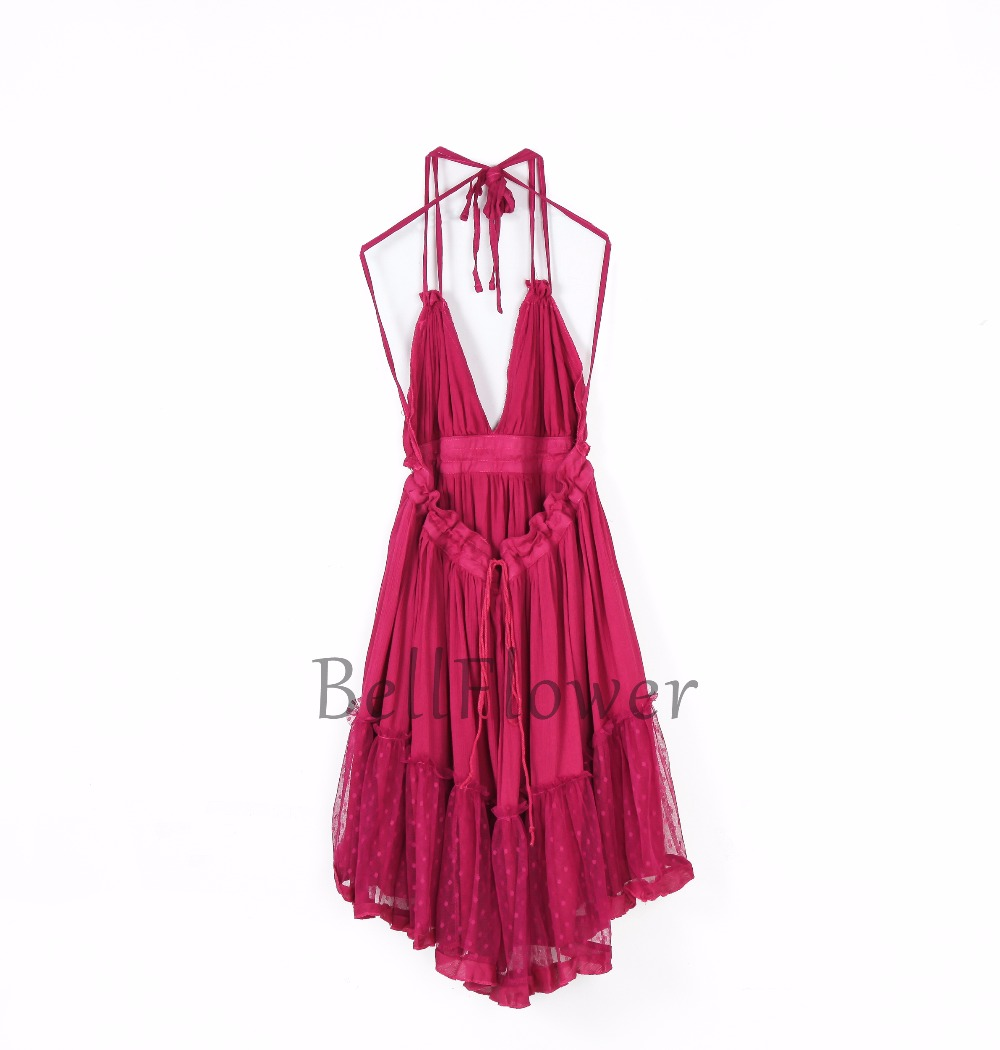 BellFlower 17 Summer Bohemian Women Mini Dress Backless Beach Dress Holiday Boho Strapless Sexy Ball Gown Hippie Chic Dress 12