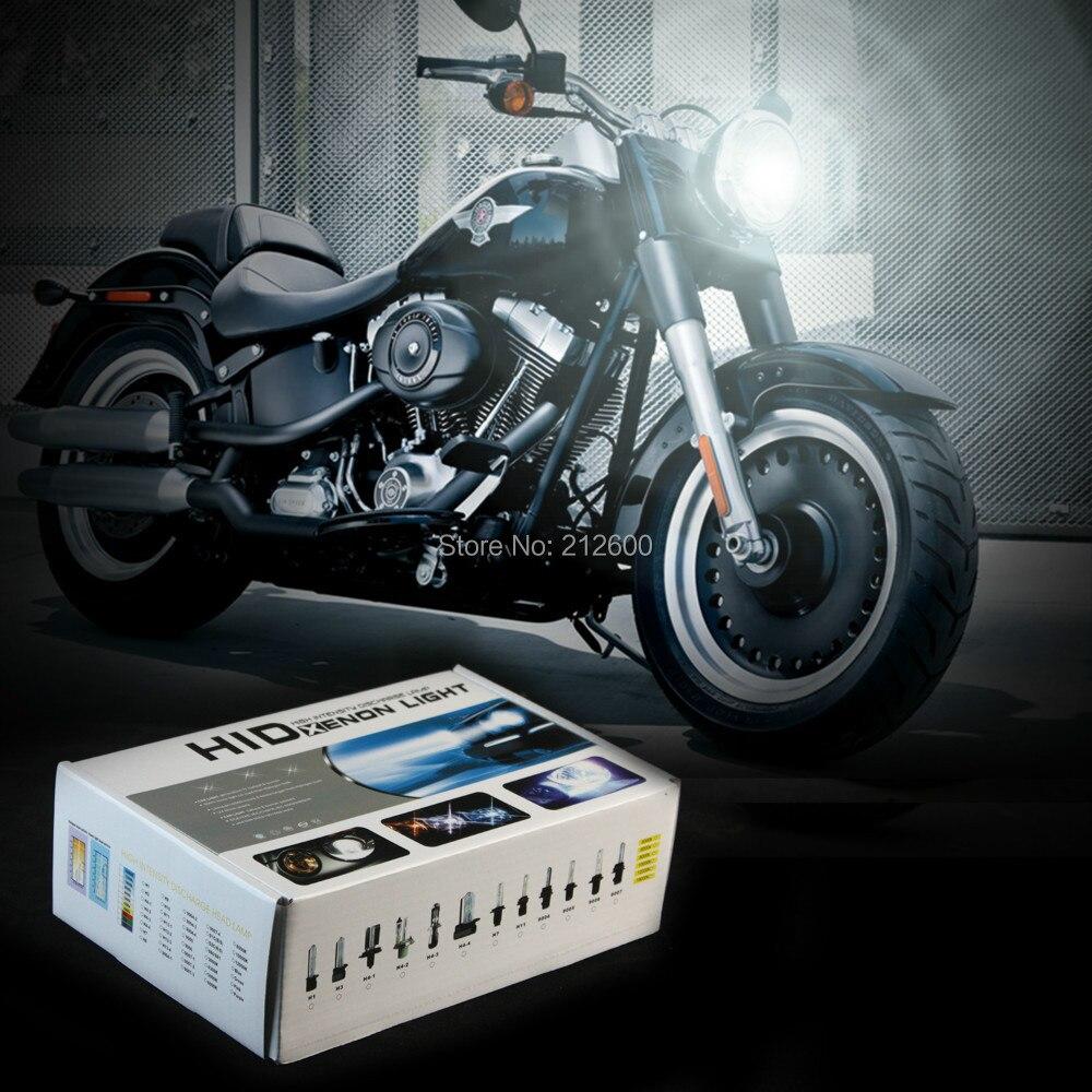 Motorcycle Headlight Bulb Hid kit  Motorbike Bulbs lamp Bulb For Harley Davidson FLSTF Fat Boy H4 3000K,4300K,6000K,8000K,10000K<br><br>Aliexpress