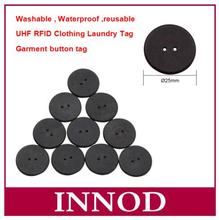 garment button pps coin waterproof rfid washable uhf Clothing tag passive gen2 epc alien h3 chip UHF RFID Laundry Tag(China)