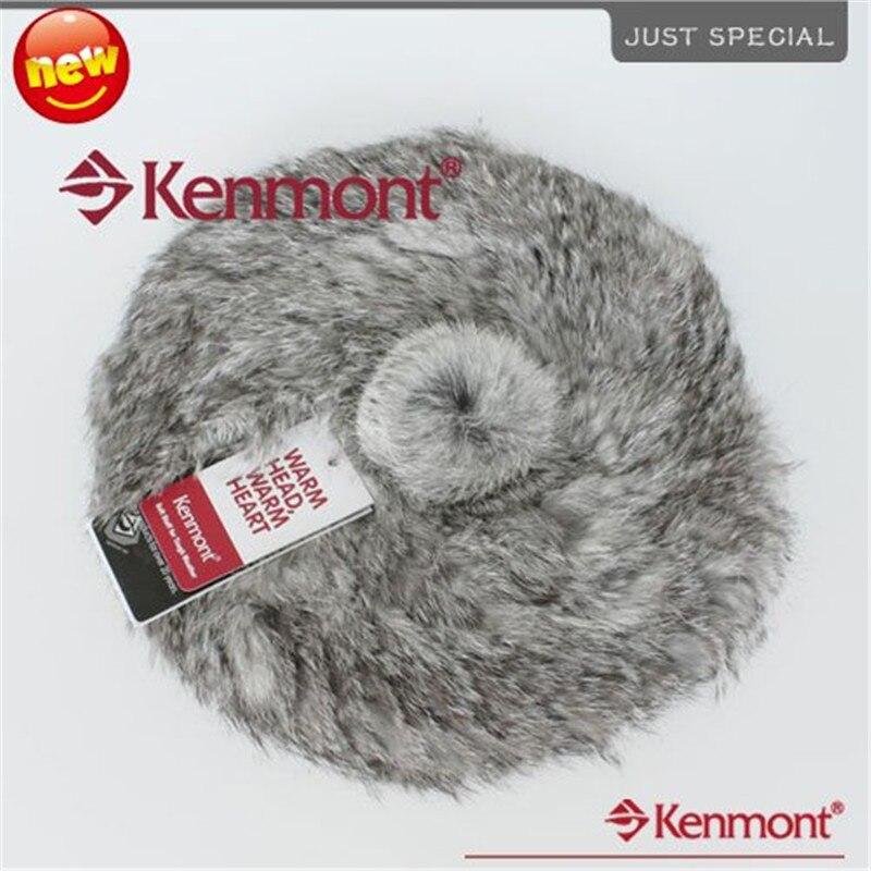 New Arrival Fur Hat, Hand Knitted Rabbit Fur Beanie Kenmont-1248-04 GreyÎäåæäà è àêñåññóàðû<br><br>