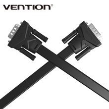 Vention VGA to VGA Flat Cable Male to Male Black Braided Shielding High Premium HDTV VGA Cabo