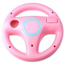 Hot Sale New Fashion Steering Wheel For Nintendo Wii Mario Kart Remote Controller Racing Games Pink Free Shipping(China)