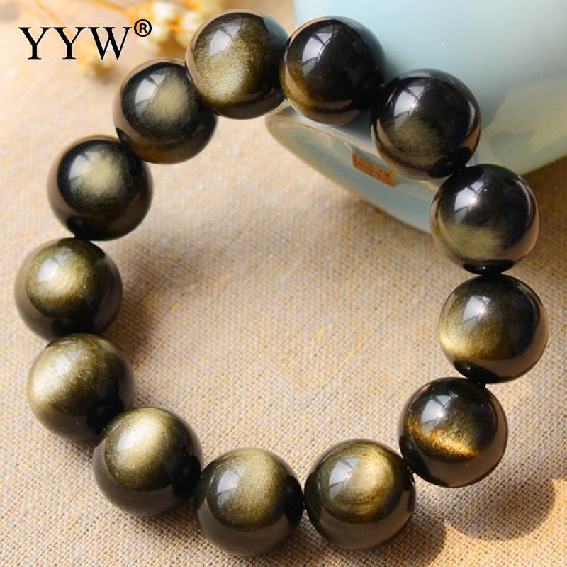Jewelry Gift Cats Eye Beads Stretch Adjustable Bracelet 8 10 12 14mm