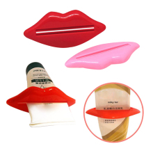 2pcs/lot Sexy Hot Lip Kiss Bathroom Tube Dispenser Toothpaste Squeezer Toothpaste Tube Squeezer