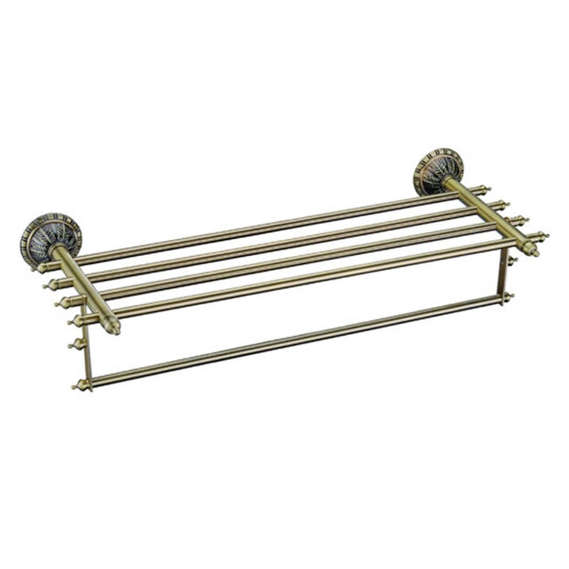 2016 New Wholesale Solid Brass Antique Bronze Double Lever Towel Holder Bars<br><br>Aliexpress