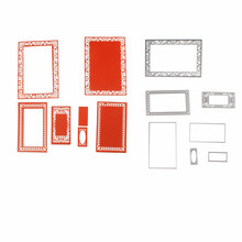 Adv-one 113*162mm Frame Set Metal Steel cutting dies stencils for DIY Scrapbooking Paper card Photo Album Craft Embossing Dies