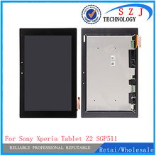 New 10.1'' inch For Sony Tablet Xperia Z2 SGP511 SGP512 SGP521 SGP541 LCD display with touch screen assembly free shipping
