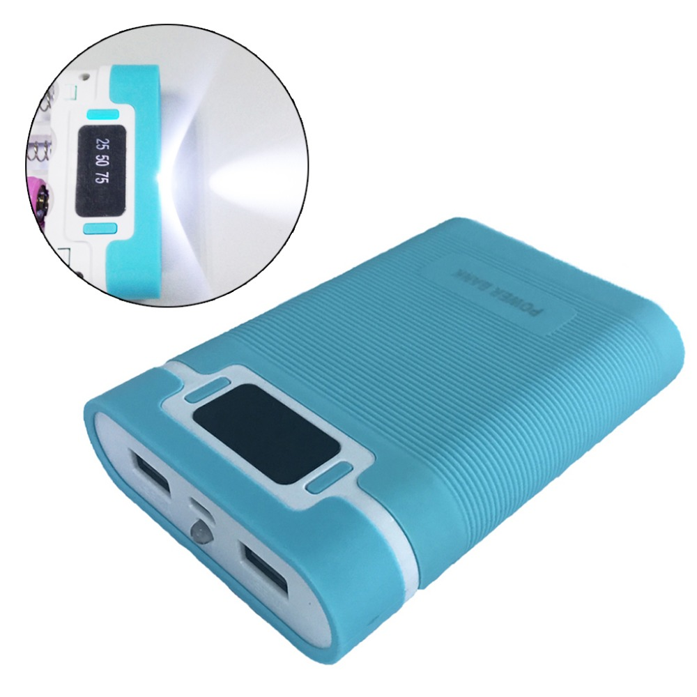 Anti-reverse Portable Power Bank Box 4x 18650 (Without Battery) DIY Display Battery Charger 5V 2A Powerbank Case For iPhone Huaw 6