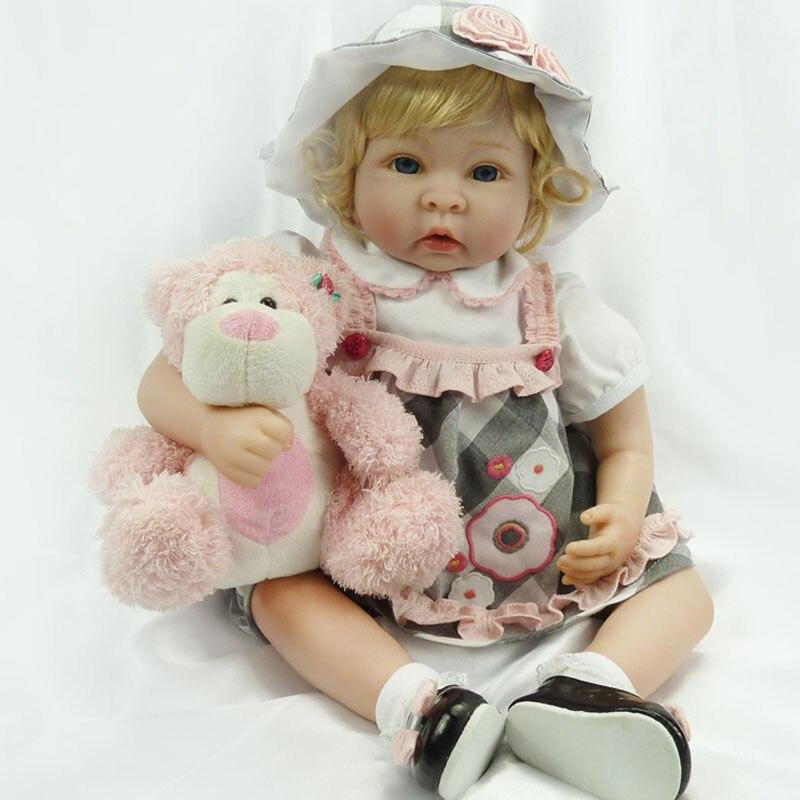 Boneca Reborn Bebe22inch Slilicone Reborn Dolls 55cm BeBe Reborn Girl Baby Toys Lifelike Newborn Juguetes Babies Toys Brinquedos<br><br>Aliexpress