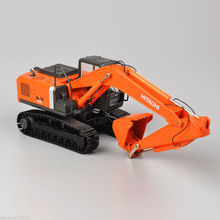 New 1/50 HIACHI Engineering Excavator Model ZH200 car Metal Alloy Construction Truck Vehicles Toys for Children Collections