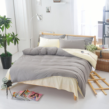 3pcs Solid Color Duvet Cover Set Pillowcase Comforter Cover Bedding Set Modern Design American Style Twin Full Queen Size(China)