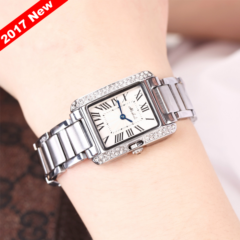 Promotion Mashali Womens Watches Top Brand Luxury Casual Quartz Watch Ladies Rhinestone Shining Dress Stone Wristwatch Clock<br>