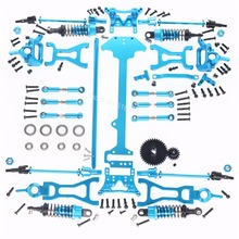 1 Set Complete Upgrade Parts Kit For Wltoys A959 Vortex 1/18 2.4G 4WD Electric RC Car Off Road Buggy Spare Part(China)