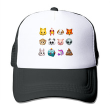 DUTRODU For Men Women Baseball-caps Mesh Back Iphone8 expression animation Cap Hats hip hop hat vary colors fitted