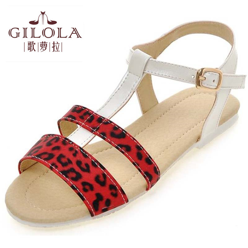new 2017 flat women sandals leopard white yellow womens spring summer women shoes woman fashion #Y0575733F<br><br>Aliexpress