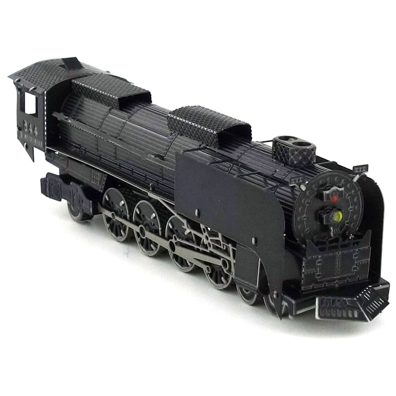 Colorized 844 Steam locomotive model kit laser cutting 3D puzzle DIY metal car model jigsaw best gifts for kids educational toys(China (Mainland))