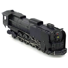 Colorized 844 Steam locomotive model kit laser cutting 3D puzzle DIY metal car model jigsaw best gifts for kids educational toys(China)
