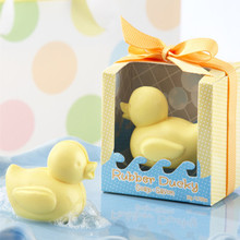 DHL/EMS Rubber ducky soap favor Little Cute Duck Soaps for Wedding Favor Gift Baby Shower Soap Decorative Hand Soap 100pcs/lot