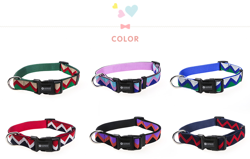 Outdoor Nylon Dog Collars Mascotas Pet Dogs Neck Straps Puppy Led Dog Collar Strong Colorful Wave 40-62CM Adjustable HD002004 (3)