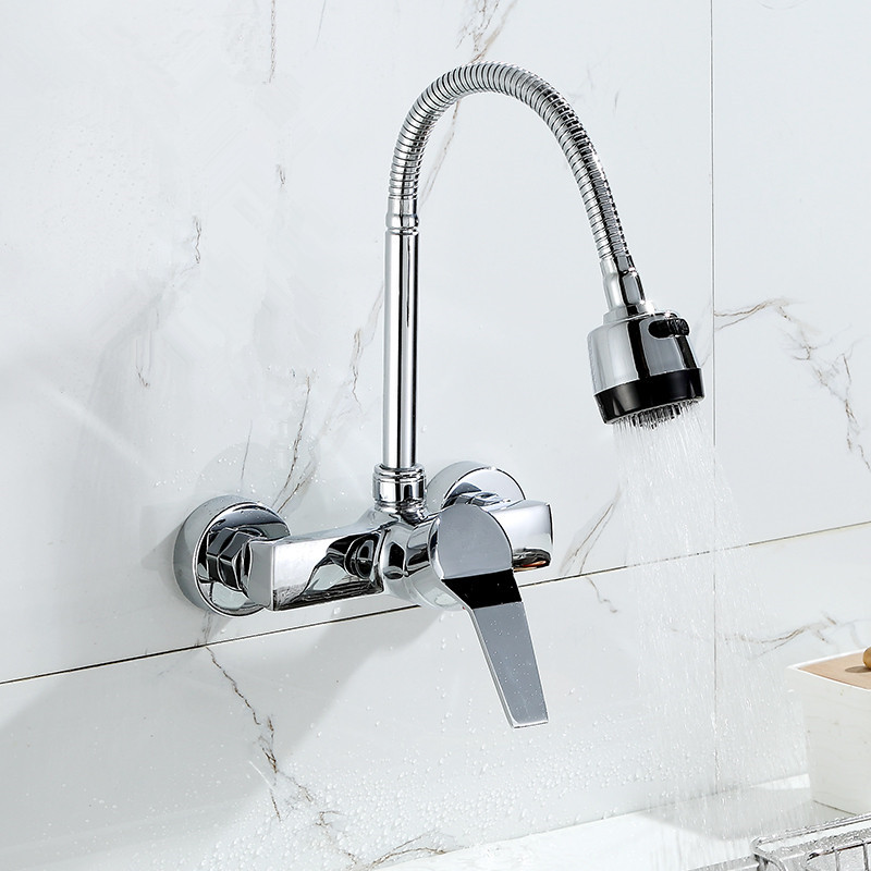 Wall-Mounted-Double-Holes-Flexible-Kitchen-Faucet-Mixers-Sink-Tap-Wall-Kitchen-Faucet-Hot-and-Cold (2)