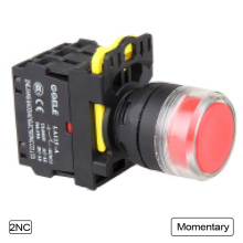 5 PCS Push button switch Industrial switch LED Latching OR Momentary Waterproof IP40 1NO 1NC 2NO 2NC
