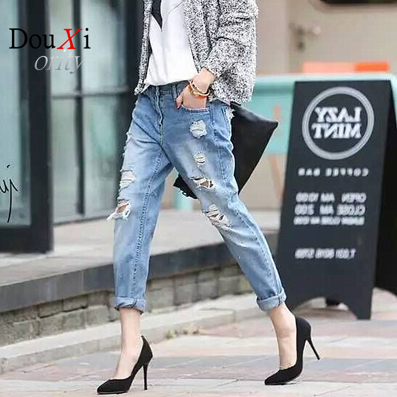 ripped jeans For Women Female Hole Jeans Woman Skinny Pants Loose Harem Pants Beggar boyfriend   Women JeansОдежда и ак�е��уары<br><br><br>Aliexpress
