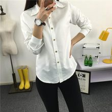 Women Shirt - New Arrival Women 's Long - Sleeved Shirt Han Fan Ms. Button Thin Section #1814650