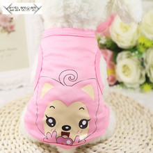 New Dog Clothes Puppy Vest Pet Supplies Bikachu Cartoon Dog vests Cat Dog Clothing 11 Colors Small Dog Pet Coat Size:XS-2xl