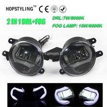 Высокое качество 2in1 Выделите СИД DRL дневные Бег свет + LED туман лампа для Toyota Corolla 2009 2012 Yaris 2008 -2012(China)